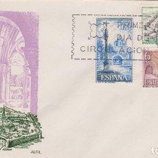 Sellos: MONASTERIO DE SANTA MARIA DE VERUELA - SOBRE PRIMER DIA DE CIRCULACIÓN - 1967. Lote 171809684