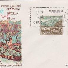 Sellos: TORLA, PIRINEO ARAGONES - SOBRE PRIMER DIA DE CIRCULACIÓN - 1966. Lote 171809762