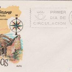 Sellos: CAMBADOS, GALICIA MARINERA - SOBRE PRIMER DIA DE CIRCULACIÓN - 1965. Lote 171809838