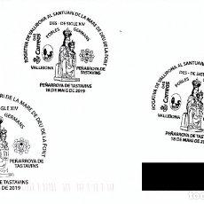 Sellos: ESPAÑA. MATASELLOS ESPECIAL. ROGATIVA DE VALLIBONA AL SANTUARIO VIRGEN DE LA FUENTE. PEÑARROYA. 2019. Lote 173656443
