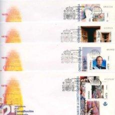 Sellos: ESPAÑA 2003 EDIFIL 4037/46 - 10 SOBRES - PD. XXV ANIV. DE LA CONSTITUCIÓN ESPAÑOLA. Lote 173745359