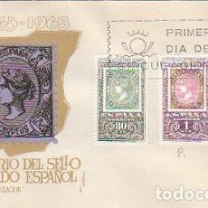Sellos: EDIFIL 1689/91, CENTENARIO SELLO DENTADO ESPAÑOL, PRIMER DIA ESPECIAL 22-11-1965 SISO. Lote 175022705