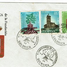 Sellos: GUERNICA - VI CENTENARIO DE LA FUNDACIÓN. Lote 175536914
