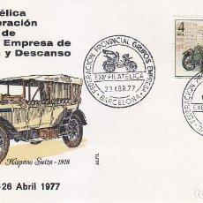 Sellos: HISPANO SUIZA 1916 AUTOMOVILES ANTIGUOS ESPAÑOLES 1977 EDIFIL 2410 SPD FEDERACION GRUPOS EMPRESA MPM. Lote 175547208