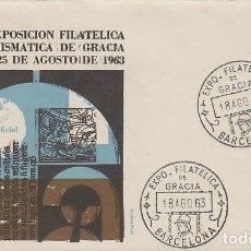 Sellos: AÑO 1963, GOYA (MARIANITO GOYA) EXPOSICIÓN DE GRACIA DEDICADA A LA PINTURA, SOBRE OFICIAL. Lote 175693574