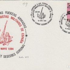 Sellos: 1984 SANT CLIMENT SESCEBES ( GERONA ), HOMENAJE A LAS FUERZAS ARMADAS , MINIATURISTAS - TARJETA. Lote 176123563