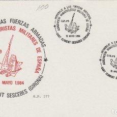 Sellos: 1984 SANT CLIMENT SESCEBES ( GERONA ), HOMENAJE A LAS FUERZAS ARMADAS , MINIATURISTAS - TARJETA. Lote 176123580
