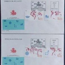Sellos: V CENTENARIO DESCUBRIMIENTO AMERICA 1988, 2969/74 3 SPD SFC . 500 CORTES BALBOA ELCANO PIZARRO CORTE. Lote 176338517