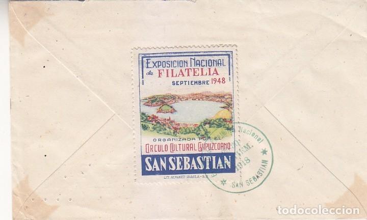 Sellos: DE LA CIERVA SERIE COMPLETA FANTASIAS (EDIFIL 940 i A 944 i) SOBRE EXPOSICION SAN SEBASTIAN 1948 MPM - Foto 2 - 176648038