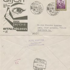 Sellos: AÑO 1961, GIJON, OFTALMOLOGIA, SOBRE DE PANFILATELICAS CIRCULADO. Lote 176925948