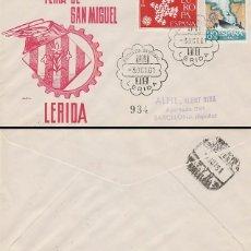 Sellos: AÑO 1961, FERIA DE SAN MIGUEL EN LERIDA, SOBRE DE ALFIL CIRCULADO. Lote 176926430