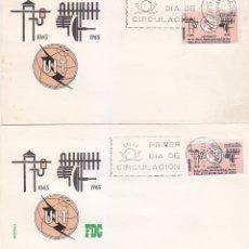 Sellos: RARA VARIEDAD TELECOMUNICACIONES CENTENARIO UNION INTERNACIONAL 1965 (EDIFIL 1670) SPD ARRONIZ. MPM.. Lote 177143825