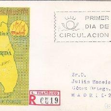 Sellos: SAN AGUSTIN FLORIDA IV CENTENARIO FUNDACION 1965 (EDIFIL 1674) SPD CIRCULADO SERVICIO FILATELICO MPM. Lote 177279735