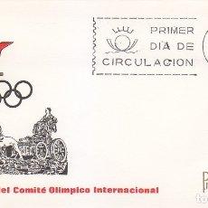 Sellos: COMITE OLIMPICO INTERNACIONAL LXIII 63 ASAMBLEA 1965 (EDIFIL 1677) SOBRE PRIMER DIA DE ARRONIZ. MPM.. Lote 177295322