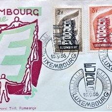 Sellos: SOBRE PRIMER DIA DE LUXEMBURGO 1956, TEMA EUROPA,EL DE LA FOTO,FIRST DAY COVER. Lote 177715033