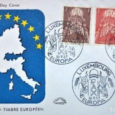 Sellos: SOBRE PRIMER DIA DE LUXEMBURGO 1957, TEMA EUROPA,EL DE LA FOTO,FIRST DAY COVER. Lote 177715544
