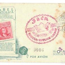 Sellos: SOBRE (JAÉN, 1951), ALFIL, CERTIFICADO, CORREO AÉREO: V CENTENARIO NACIMIENTO ISABEL LA CATÓLICA - M. Lote 177794214