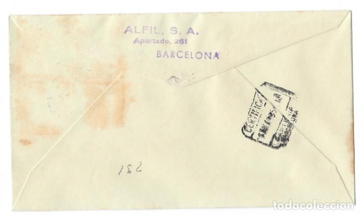 Sellos: Sobre SPD (Madrid 1955), Alfil: Efigie de S.E. El Generalisimo emisión 1955 - Primer día de emisión - Foto 2 - 177796497