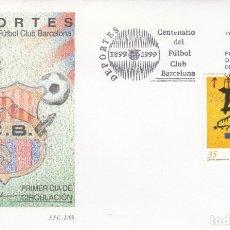 Sellos: SPD - SOBRE PRIMER DIA DEPORTES-CENTENARIO FUTBOL CLUB BARCELONA - 1999. Lote 178294933