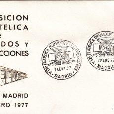 Sellos: MATASELLOS V EXPOSICIÓN FILATÉLICA DRAGADOS Y CONSTRUCCIONES - MADRID 1977 . TREN FERROCARRIL-METRO . Lote 178296605