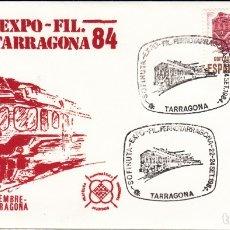 Sellos: MATASELLOS TREN - FERROCARRIL - EXPO-FIL FERROTARRAGONA 84 - 1984. Lote 178297037