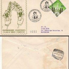 Sellos: AÑO 1959, SANTA CRUZ DE TENERIFE, TRAJE REGIONAL, SOBRE DE ALFIL CIRCULADO. Lote 178709901