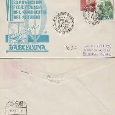 Sellos: AÑO 1960, EXPOSICION DEL SINDICATO DEL SEGURO, MATASELLO 26-6-1960 SOBRE DE PANFILATELICAS CIRCULADO. Lote 235961170