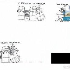 Sellos: ESPAÑA. SOBRE PRIMER DIA. VALENCIA 2019. TORRES DE SERRANOS. Lote 179011480