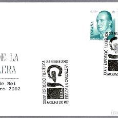 Sellos: MATASELLOS FIRA DE LA CADELERA. MOLINS DE REI, BARCELONA, 2002. Lote 179029712