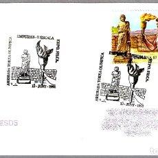 Sellos: MATASELLOS LLEGADA DE LA ANTORCHA OLIMPICA. EMPURIES-L'ESCALA, GIRONA, 1992. Lote 179029871