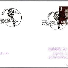 Sellos: MATASELLOS PASO DE LA ANTORCHA OLIMPICA. RIPOLL, GIRONA, 1992. Lote 179030120
