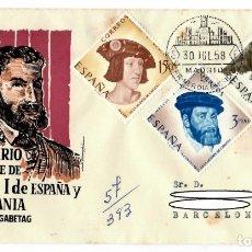 Francobolli: SOBRE (MADRID 1958), ALFIL: IV CENTENARIO DE LA MUERTE DE CARLOS I DE ESPAÑA Y V DE ALEMANIA. Lote 179131711