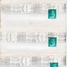 Sellos: CORDOBA 1985 - RODILLO EXFILNA 86 - LOTE DE 4 SOBRES . Lote 179196726