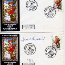 Sellos: JEREZ DE LA FRONTERA (CADIZ) 1984 - FIESTA DE LA VENDIMIA - SOBRE PRIMER DIA - LOTE DE 2 SOBRES . Lote 179197750