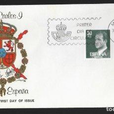 Sellos: SOBRE FDC (MADRID 1981), ALFIL: JUAN CARLOS I, REY DE ESPAÑA (13, 30 PTA.). Lote 179227208
