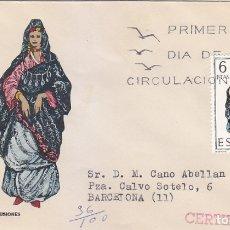 Sellos: TRAJE DE SAHARA TRAJES TIPICOS ESPAÑOLES 1970 (EDIFIL 1951) EN SOBRE PRIMER DIA CIRCULADO DE MS RARO. Lote 179324623