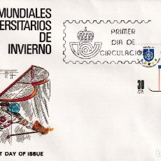 Sellos: SOBRE SPD (MADRID 1981), ALFIL: JUEGOS MUNDIALES UNIVERSITARIOS DE INVIERNO. Lote 180114100