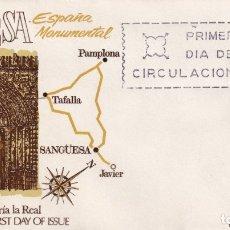 Sellos: SOBRE SPD (MADRID, 1968), ALFIL: ESPAÑA MONUMENTAL - IGLESIA SANTA MARÍA LA REAL (SANGÜESA). Lote 180114337