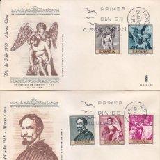 Sellos: PINTURA ALONSO CANO 1969 (EDIFIL 1910/19) EN CUATRO SOBRES PRIMER DIA DE GLOSA. BONITOS Y RAROS ASI.. Lote 180896261
