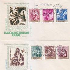 Sellos: PINTURA ALONSO CANO 1969 (EDIFIL 1910/19) EN CUATRO SOBRES PRIMER DIA DE MS. BONITOS Y RAROS ASI MPM. Lote 180896607