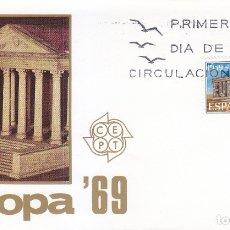 Sellos: EUROPA CEPT 1969 (EDIFIL 1921) EN SOBRE PRIMER DIA DE MUNDO FILATELICO. BONITO Y RARO ASI. MPM.. Lote 180899606