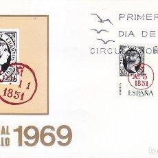 Sellos: DIA MUNDIAL DEL SELLO 1969 (EDIFIL 1922/23) EN RARO SOBRE PRIMER DIA MUNDO FILATELICO. MPM.. Lote 180900373