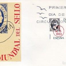 Sellos: DIA MUNDIAL DEL SELLO 1969 (EDIFIL 1922/23) EN SOBRE PRIMER DIA DEL SERVICIO FILATELICO. MPM.. Lote 180900465