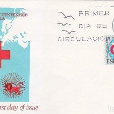 Sellos: CRUZ ROJA L ANIVERSARIO LIGA DE SOCIEDADES 1969 (EDIFIL 1925) EN RARO SOBRE PRIMER DIA DE ALFIL. MPM. Lote 180902116