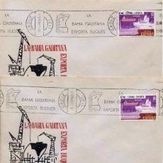 Selos: PUERTO REAL (CADIZ) - LA BAHIA GADITANA EXPORTA BUQUES - 1980 - RODILLO - LOTE DE 4 SOBRES. Lote 181001168