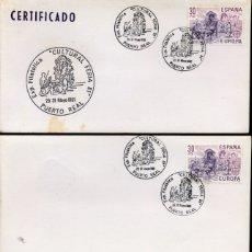 Selos: PUERTO REAL (CADIZ) - EXP.FIL. CULTURAL FERIA 81 - 1981 - LOTE DE 3 SOBRES. Lote 181009638