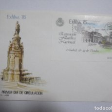 Selos: SOBRE PRIMER DIA. MADRID. EXFILNA 85. EXPOSICION FILATELICA NACIONAL 1985. SALON DEL PRADO. Lote 181104351