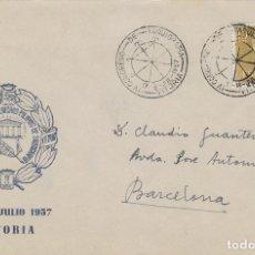 Sellos: AÑO 1957, CONGRESO DE TAQUIGRAFIA EN VITORIA, SOBRE OFICIAL. Lote 181590392