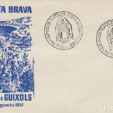 Francobolli: AÑO 1957, 1ª EXPOSICION FILATELICA DE LA COSTA BRAVA EN SAN FELIU DE GUIXOLS, SOBRE DE ALFIL. Lote 181594302