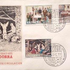 Selos: ANDORRA. SPD 79/84 NAVIDAD Y COSTUMBRES POPULARES. 1972. MATASELLO PRIMER DÍA: 5.DIC.72 ANDORRA LA V. Lote 182350580